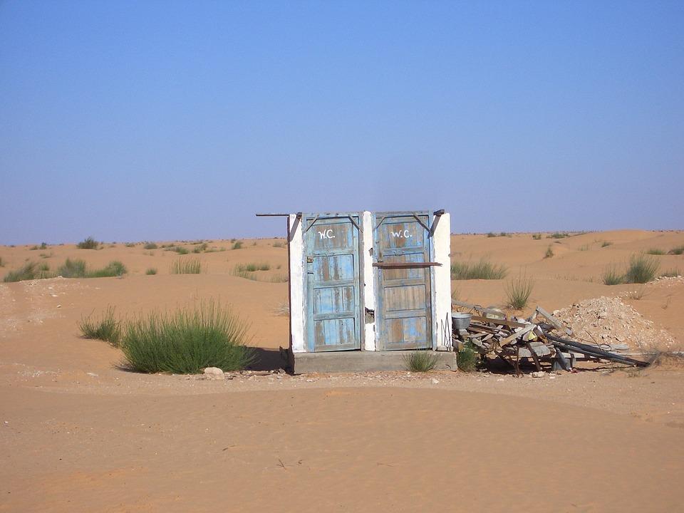 Beitragsbild: WC in der Wüste