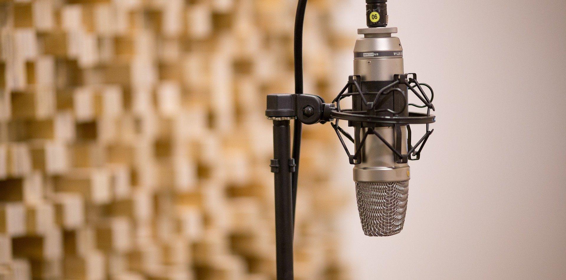 Rundfunk, Mirofon im Studio